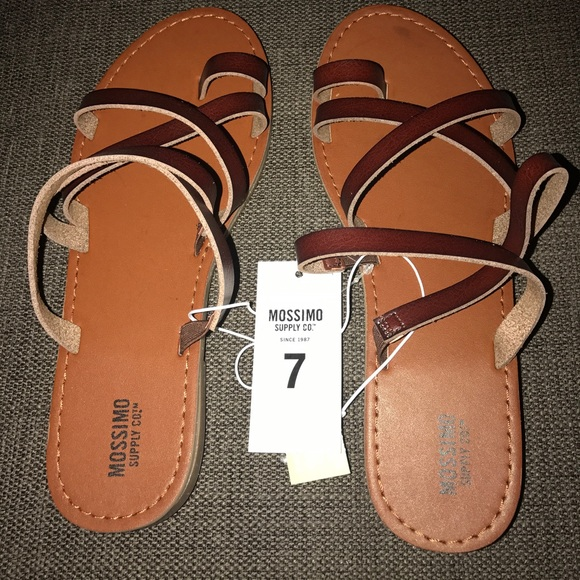 78ff03a1ca39 Mossimo supply co sandals Lina Dark brown NWT sz 7